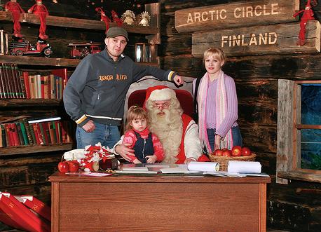 Greeting Children At SantaPark, Truly Magical